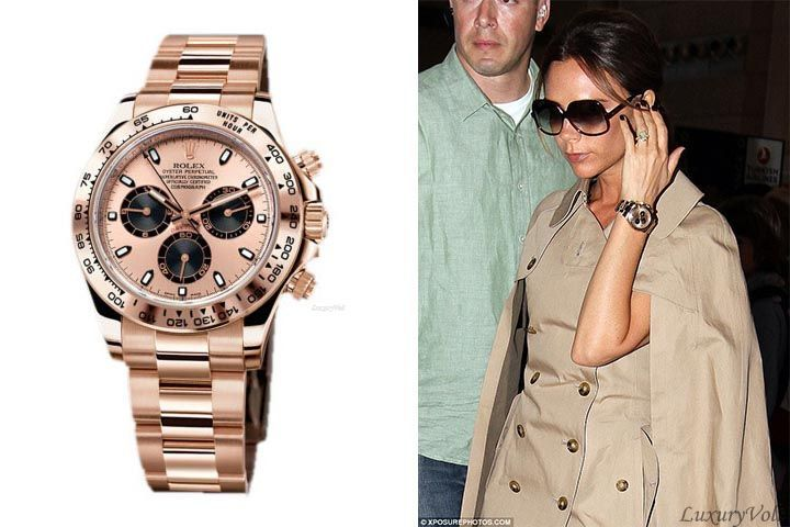 Rolex daytona rose gold watch celebrity female celebrity watches the rich and famous ladies wear for Top celebrity watches