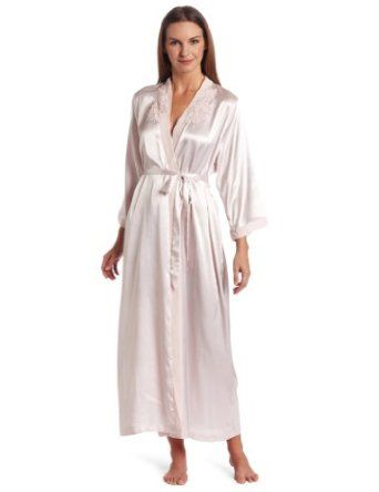 2aa1a7b009 Cinema Etoile Women s Bridal Long Satin Robe  50.00