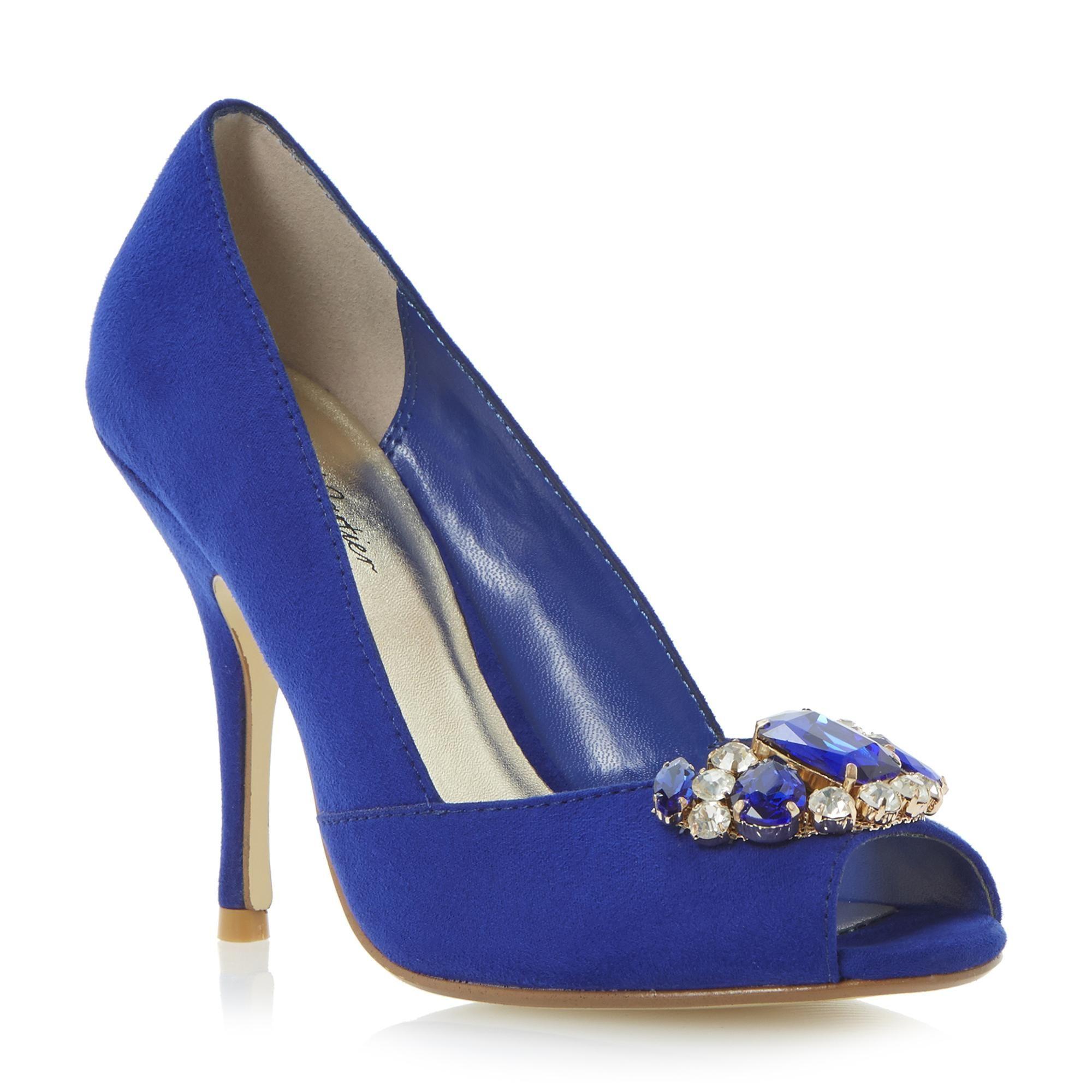 Roland Cartier Ladies DEANA - Embellished Peep Toe Court Shoe - blue | Dune  Shoes Online