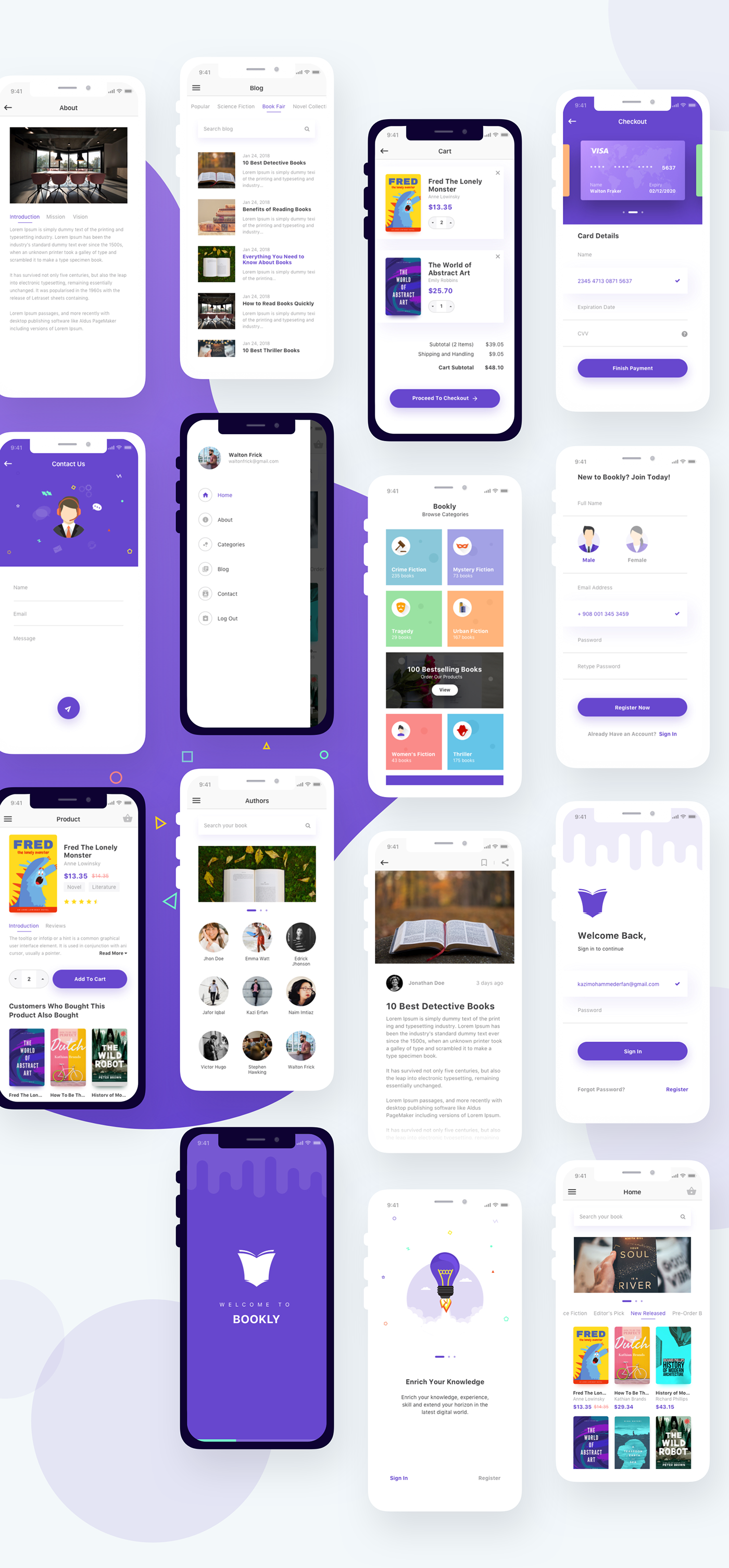 Bookly A Book App on Behance Android app