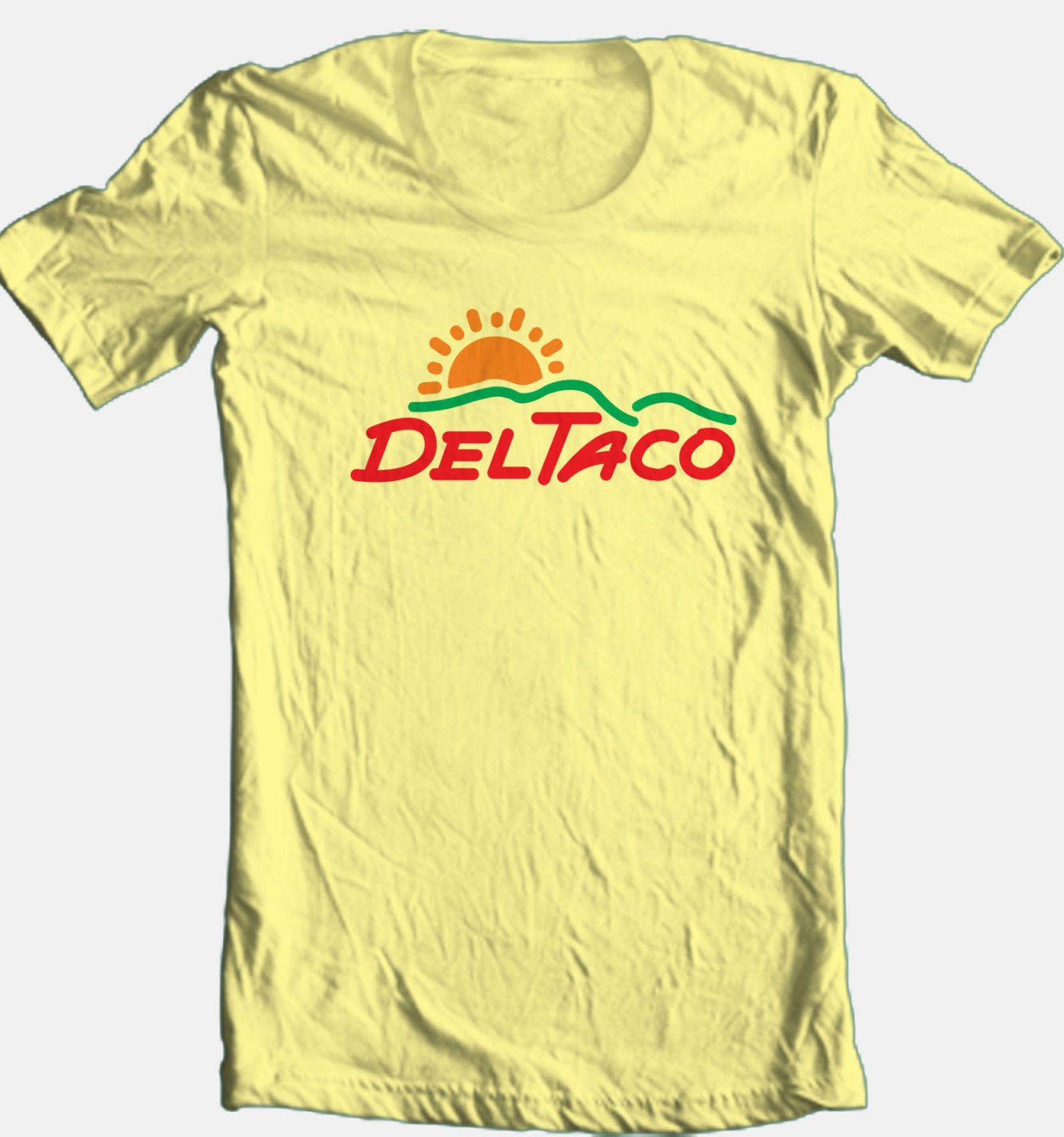 Del Taco T shirt cool retro 70's 80's fast food Mexican