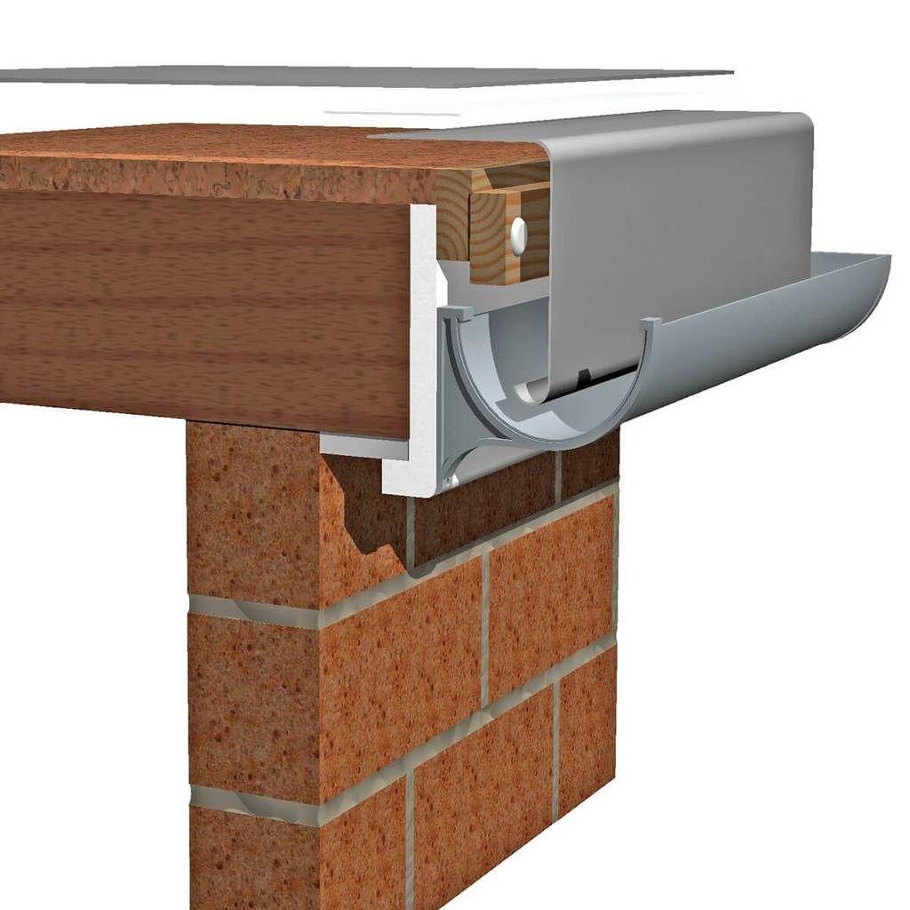 A250 Fibreglass Large Drip Edge Trim 140mm Depth Fibreglass Flat Roof Drip Edge Fibreglass Roof