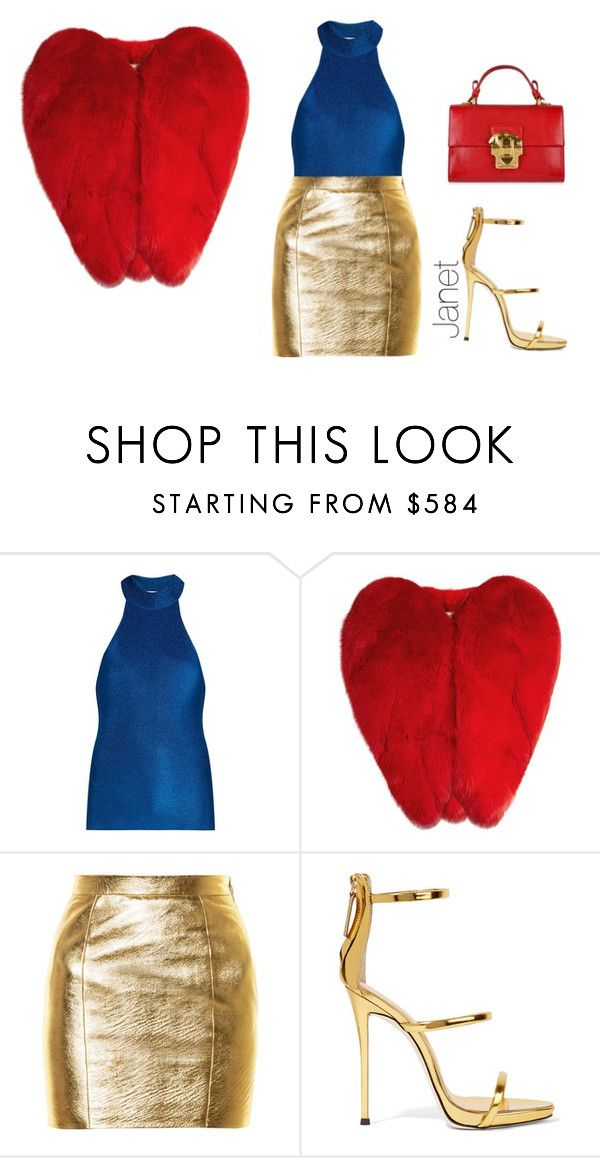 """""""Royal"""" by janetplanet ❤ liked on Polyvore featuring Yves Saint Laurent, Giuseppe Zanotti and Dolce&Gabbana"""