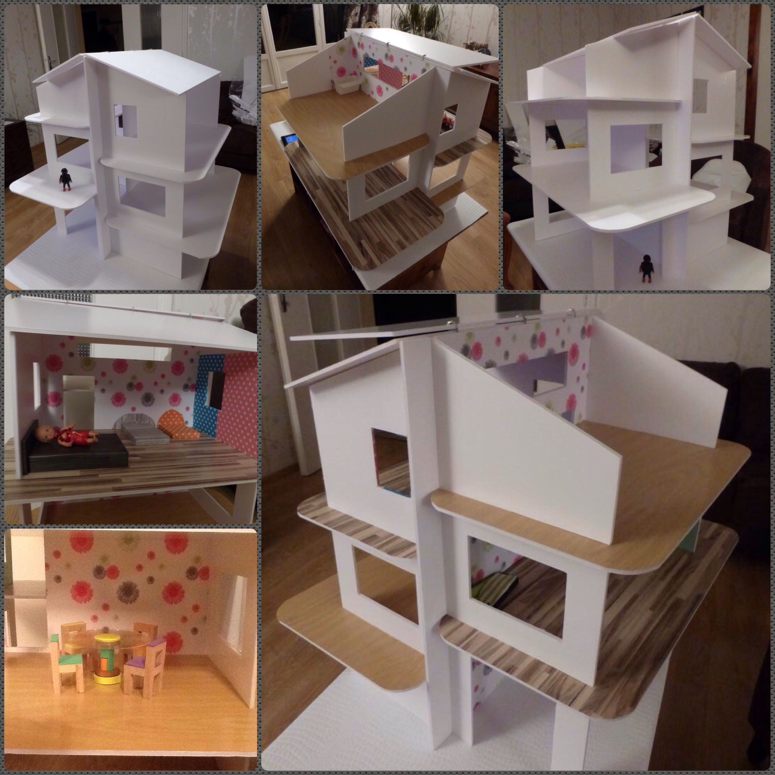 Maison Playmobil Got Love It Pinterest Doll Houses  ~ Maison De Poupéé En Bois A Faire Soi Meme