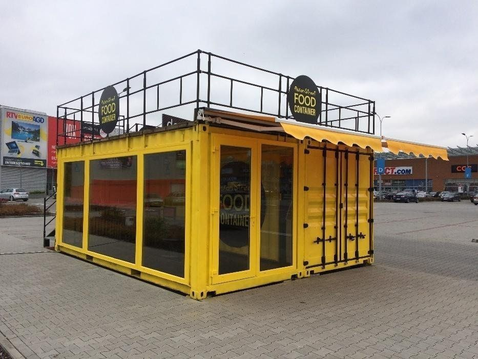 Cafe In Warsaw Poland Container House Container House Design Container Coffee Shop