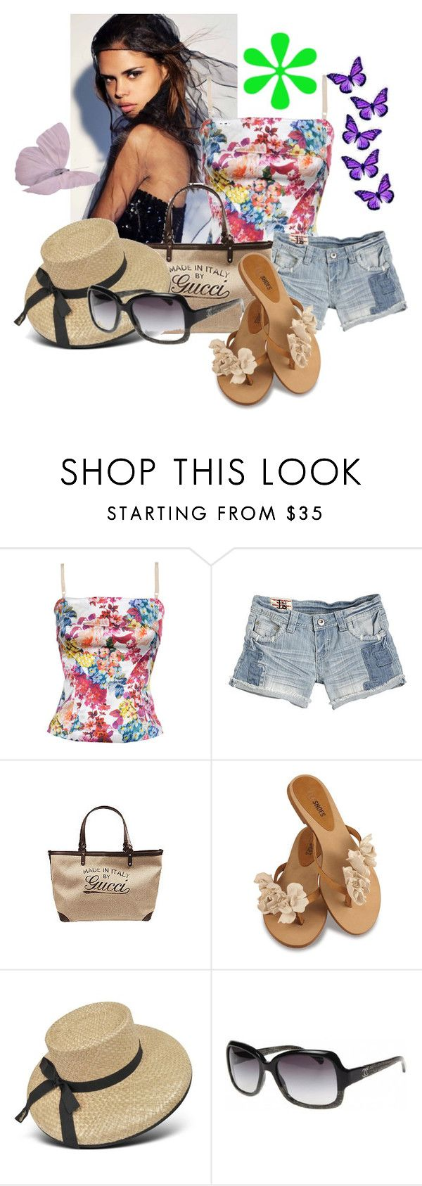 """Beach time"" by markygirl ❤ liked on Polyvore featuring D&G, Gucci, Borsalino and Chanel"
