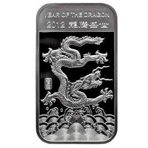 2012 Year Of The Dragon 1 2 Oz 999 Fine Silver Bar Fine Set Silver Bars Year Of The Dragon Silver Coins