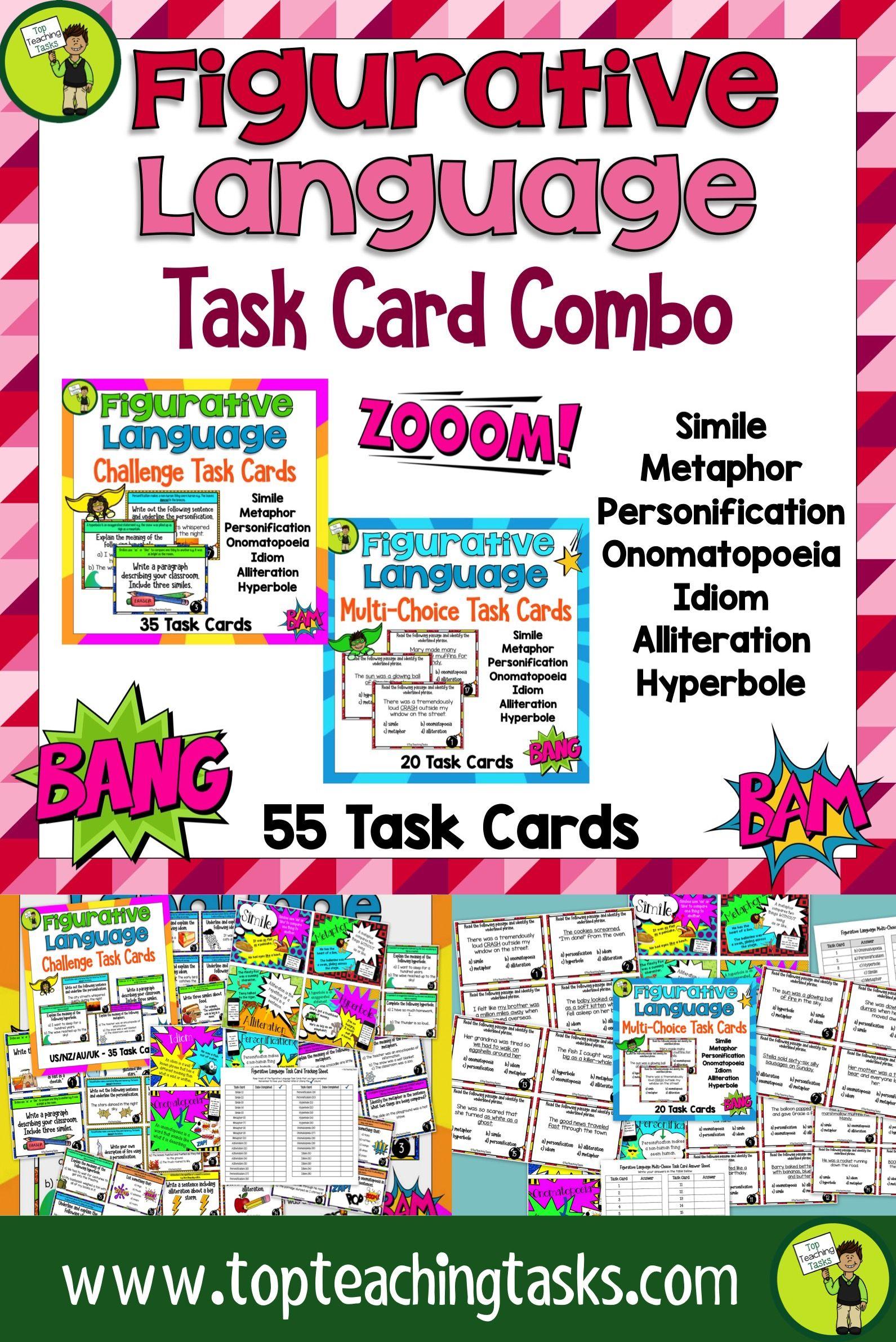 Figurative Language Challenge Task Cards Combo