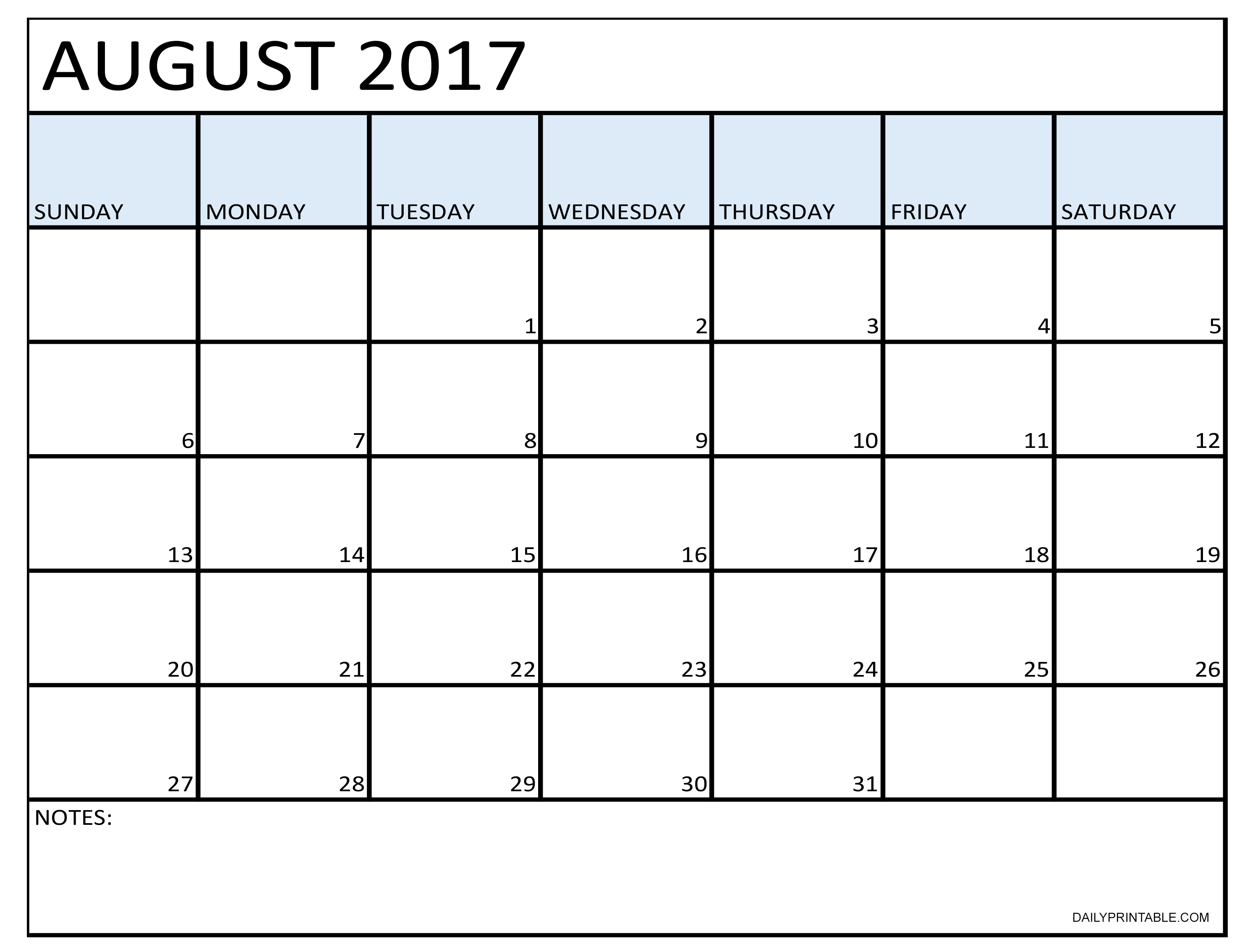 Pin By Dailyprintable On Printable August Calendar