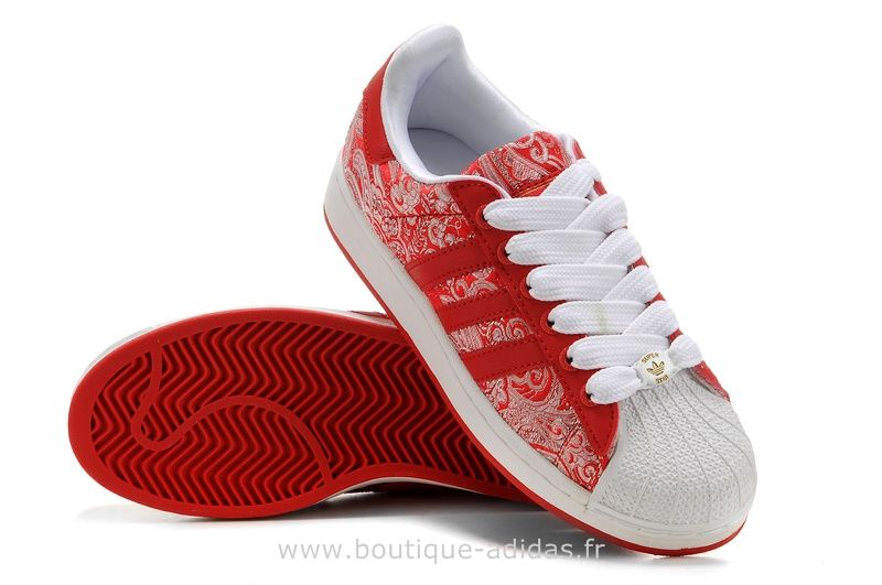 adidas superstars rouge femme original