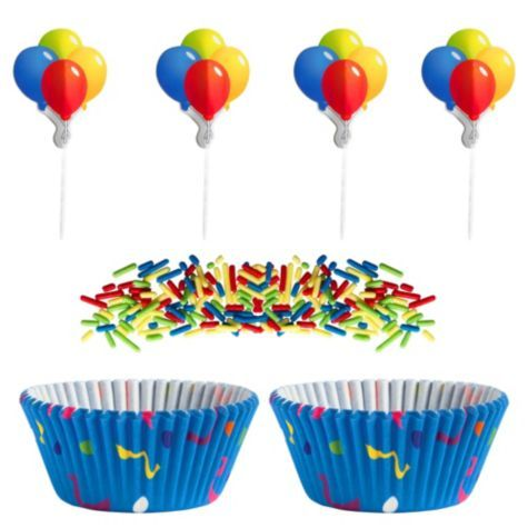 Colorful Balloon Cupcake Decorating Kit Party City Birthday