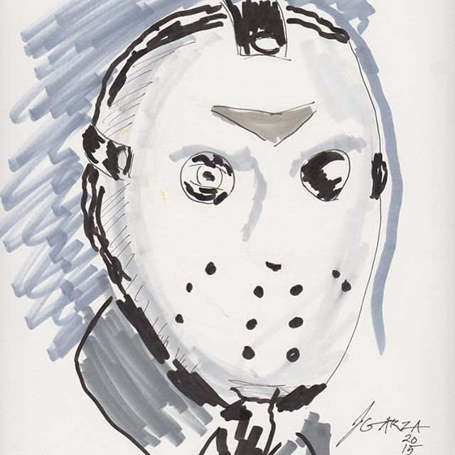 Today is his day! #fridaythe13th #JasonVoorhees #fanart #copicmarkers