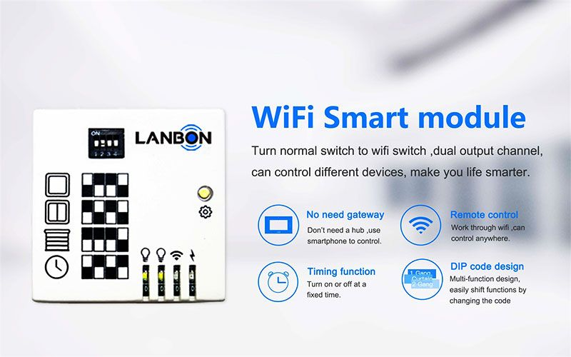 New Wifi Module 1 2 3 Gang Smart Switch Control Lighting And Curtain Compatible With Google Home Amazon Echo Buy Wifi Module 1 2 3 Gang Smart Switch Google Smart Home Automation Smart Switches Smart Lighting
