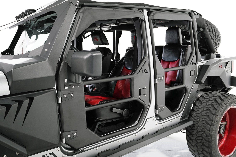 Fab Fours Rear Full Tube Doors For 07 18 Jeep Wrangler Unlimited Jk 4 Door In 2020 Jeep Wrangler Accessories Jeep Wrangler Unlimited Jeep Wrangler