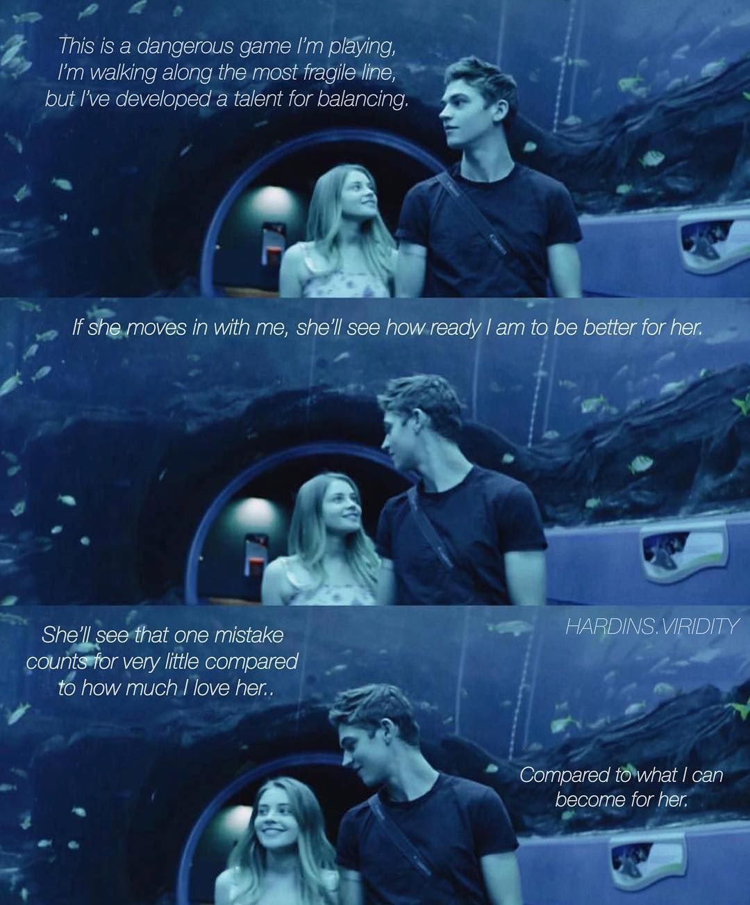 It's not actually what hardin is saying in the movie.