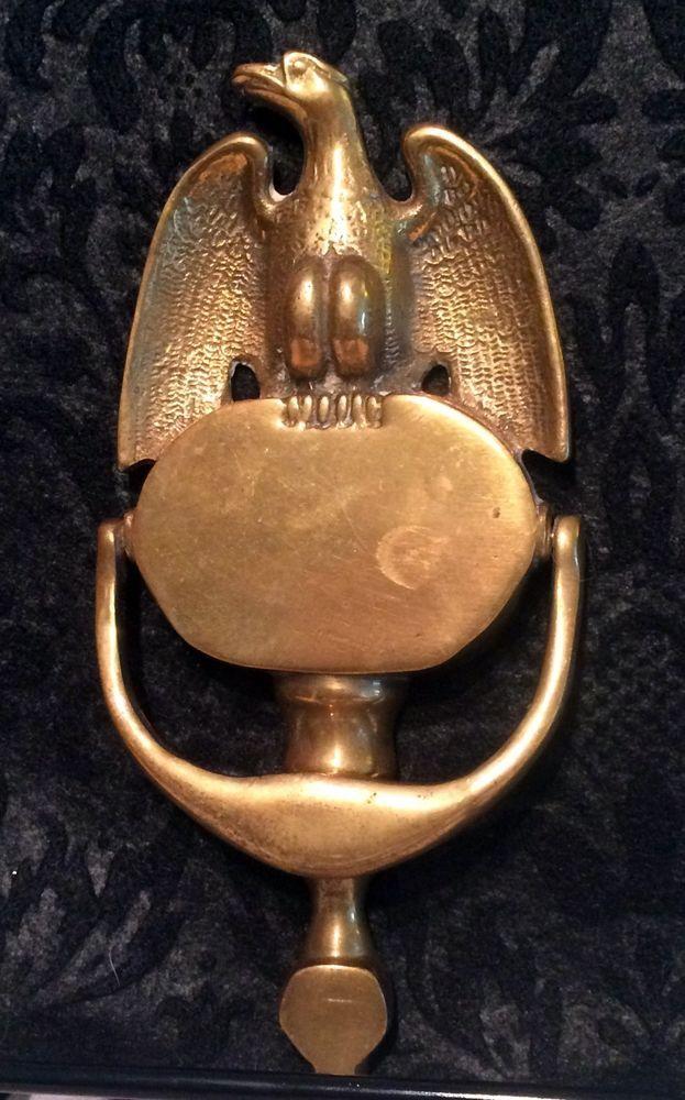 Vintage Brass Eagle Door Knocker #Colonial - Vintage Brass Eagle Door Knocker Antiques For Sale Pinterest