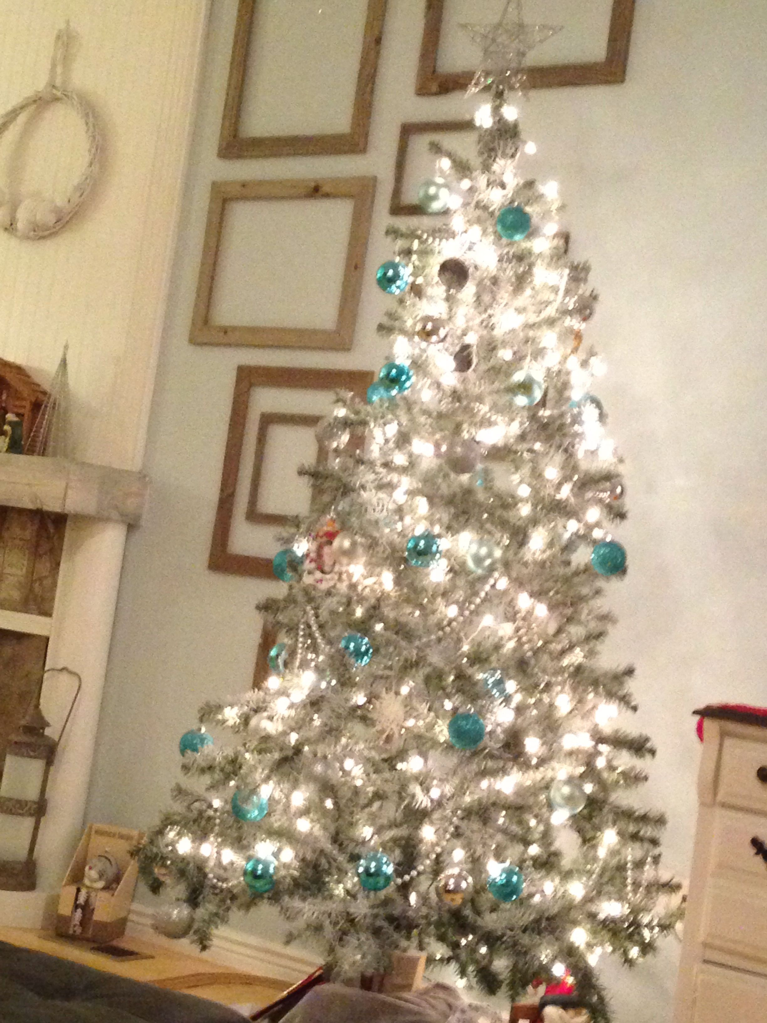 My green turned white Christmas tree!