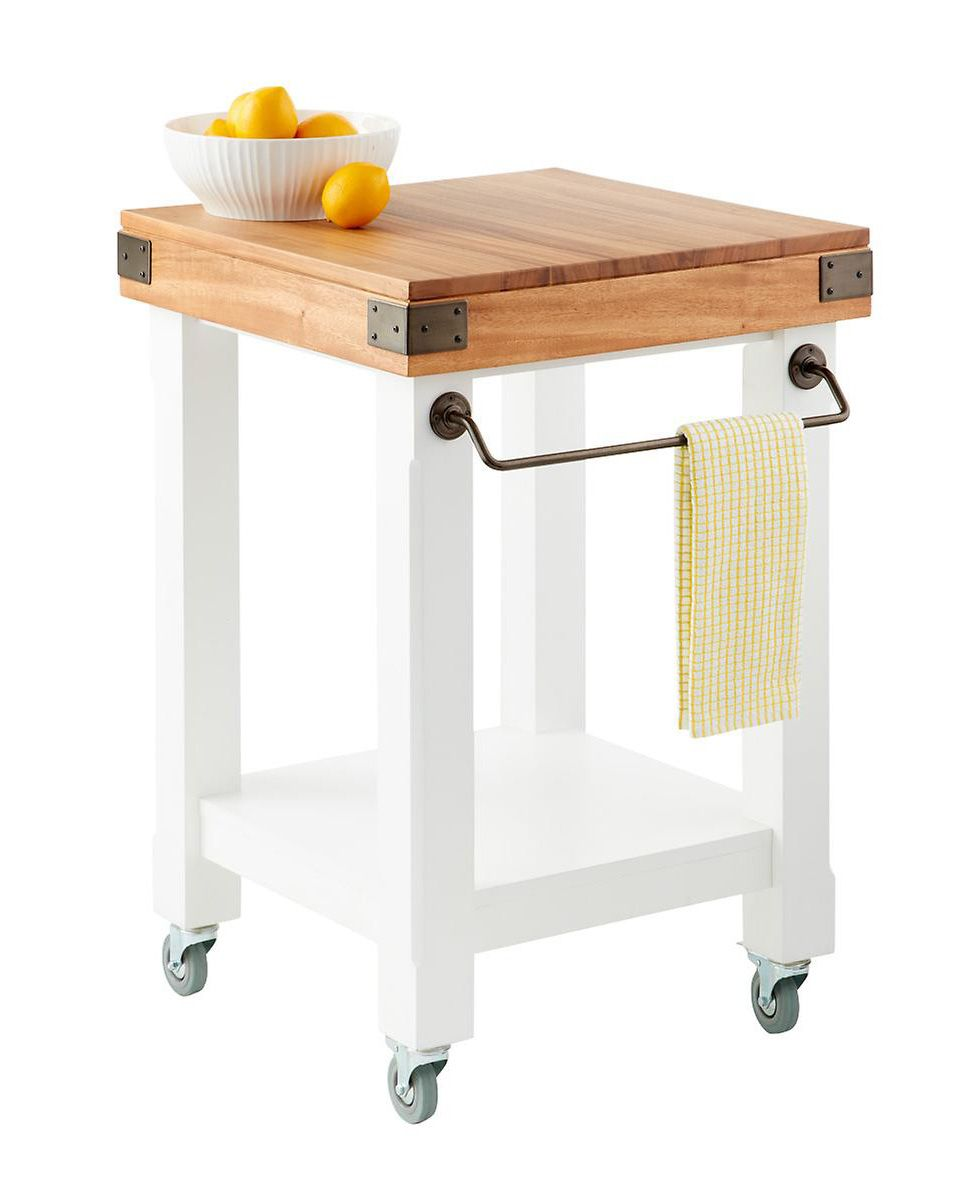 One Key Problem Solving Piece That Can Save Your Storage Starved Kitchen Diy Kitchen Cart Rolling Kitchen Island Butcher Block Island Diy