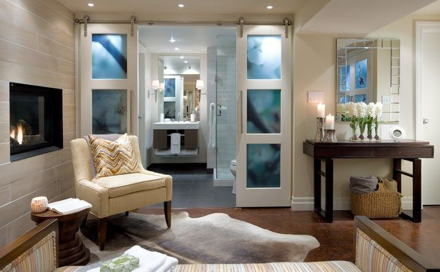 Interior French Doors With Decorative Frosted Glass | Home Doors Design  Inspiration   DoorsMagz.com