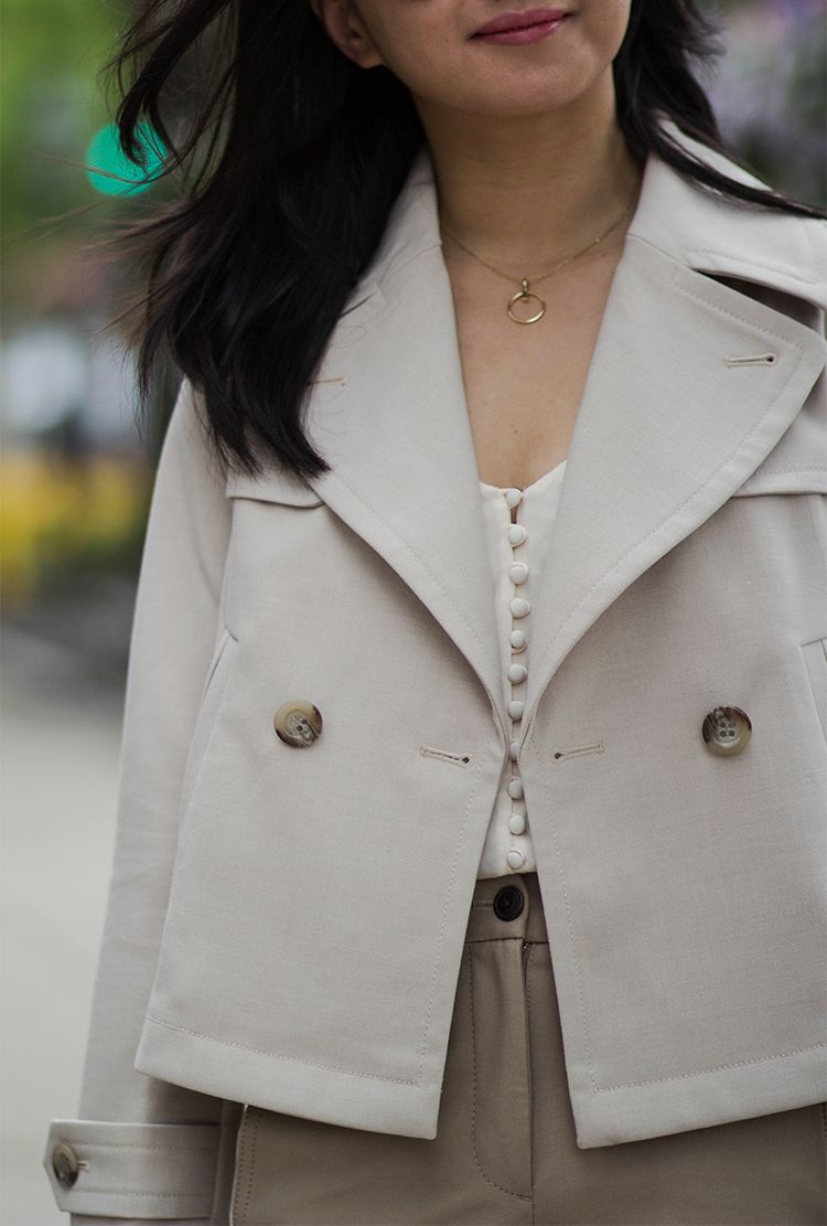 Short Trench Coat Short Trench Coat Cropped Trench Coat Trench Coat [ 1111 x 750 Pixel ]