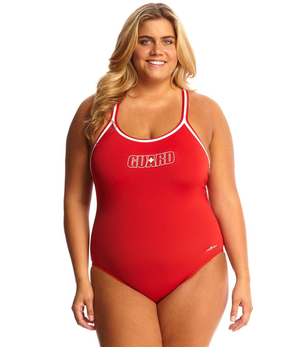 2db7c6d8f4d Dolfin Lifeguard Plus Size DBX Back One Piece Swimsuit at SwimOutlet.com -  Free Shipping