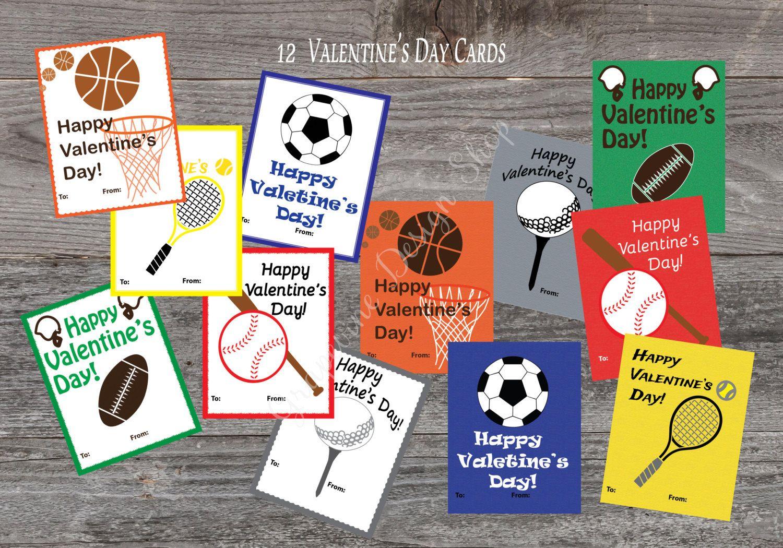 kids sports valentine cards printable valentines for