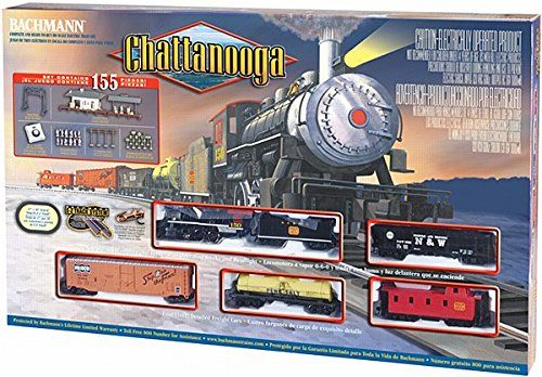 0 6 0 Steam Locomotive And Tender With Operating Smoke And Headlight 3 Freight Cars And Off Center Caboose Ho Scale Train Sets Model Trains Electric Train Sets