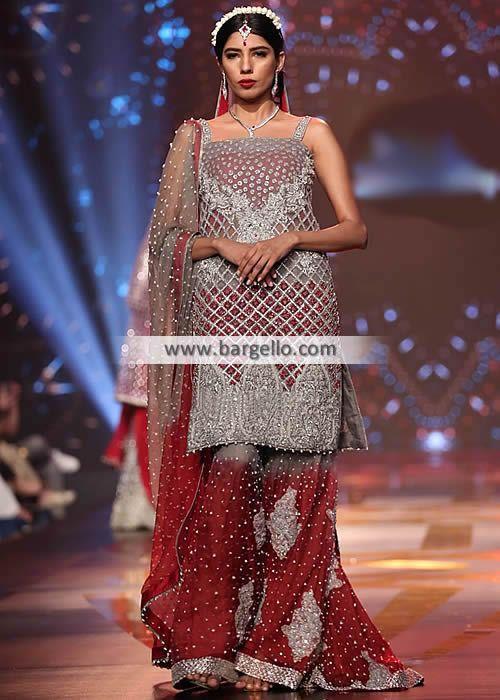 1bf103d1f61a Pakistani Designer Wedding Sharara Jeddah Saudia Arabia Riyadh ...