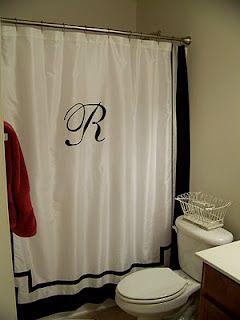 Monogrammed Shower Curtain Shower Curtain Monogram Personalized