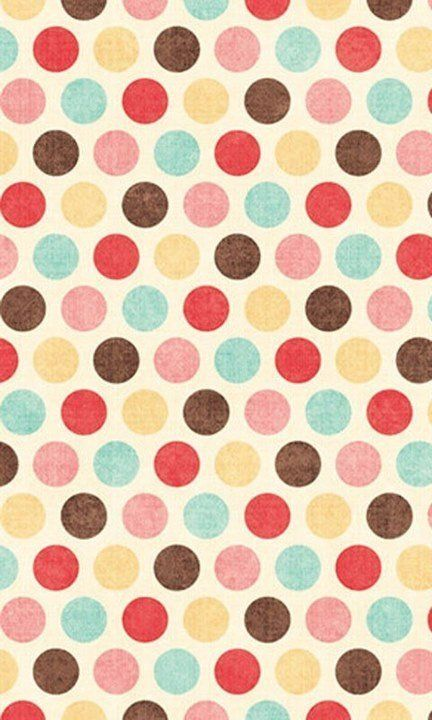 Polka dot pattern / print, I like the use of colours because they aren't too bold but its more interesting than black and white.