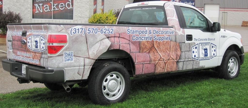 Builders Concrete / truck graphics / truck wrap / full