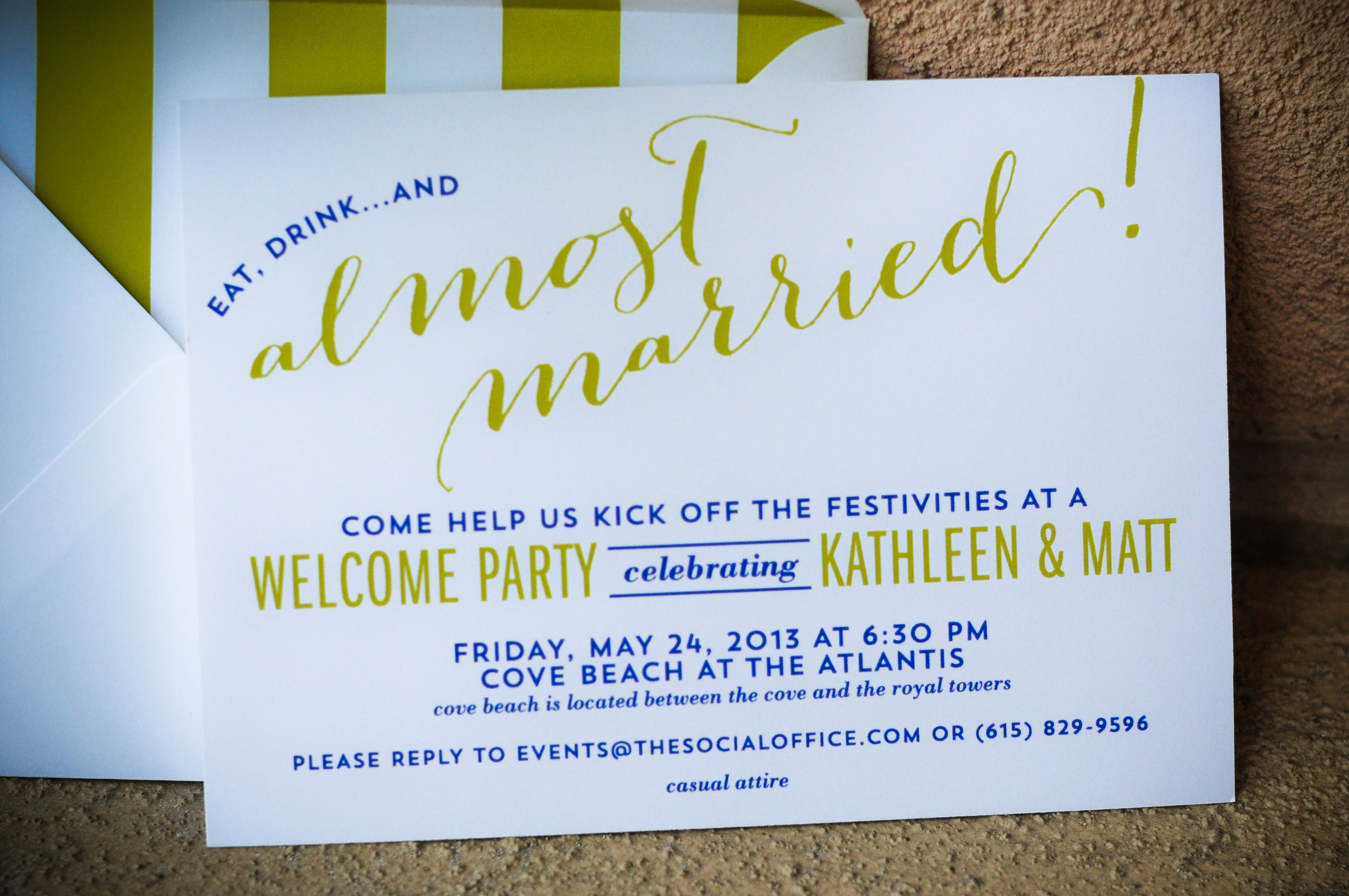 Bahamas Wedding Welcome Party Invitations I Custom By Nico And Lala