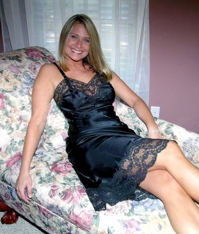 Women having sex wearing slips