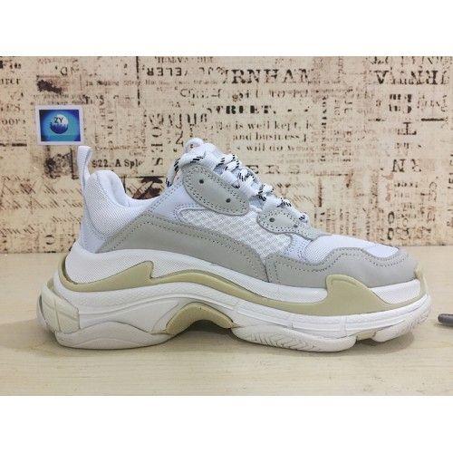 sports shoes e16b3 2e42b Pris På Balenciaga Herre Kvinder Triple S Sneakers Hvid Grå