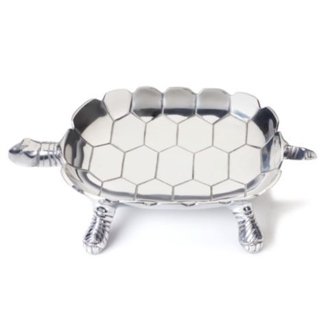 Zgallerie Polished Aluminum Turtle Tray 34 95 This