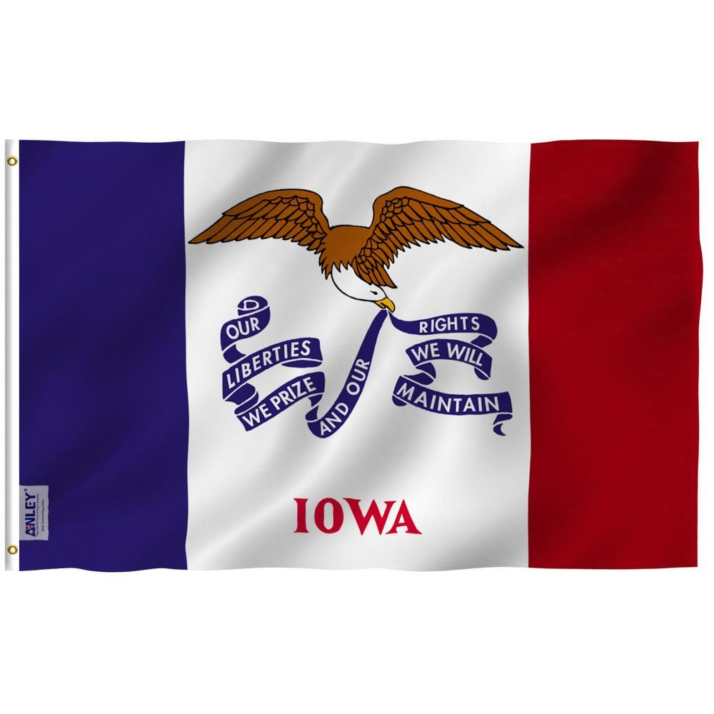 Anley Fly Breeze 3 Ft X 5 Ft Polyester Iowa State Flag 2 Sided