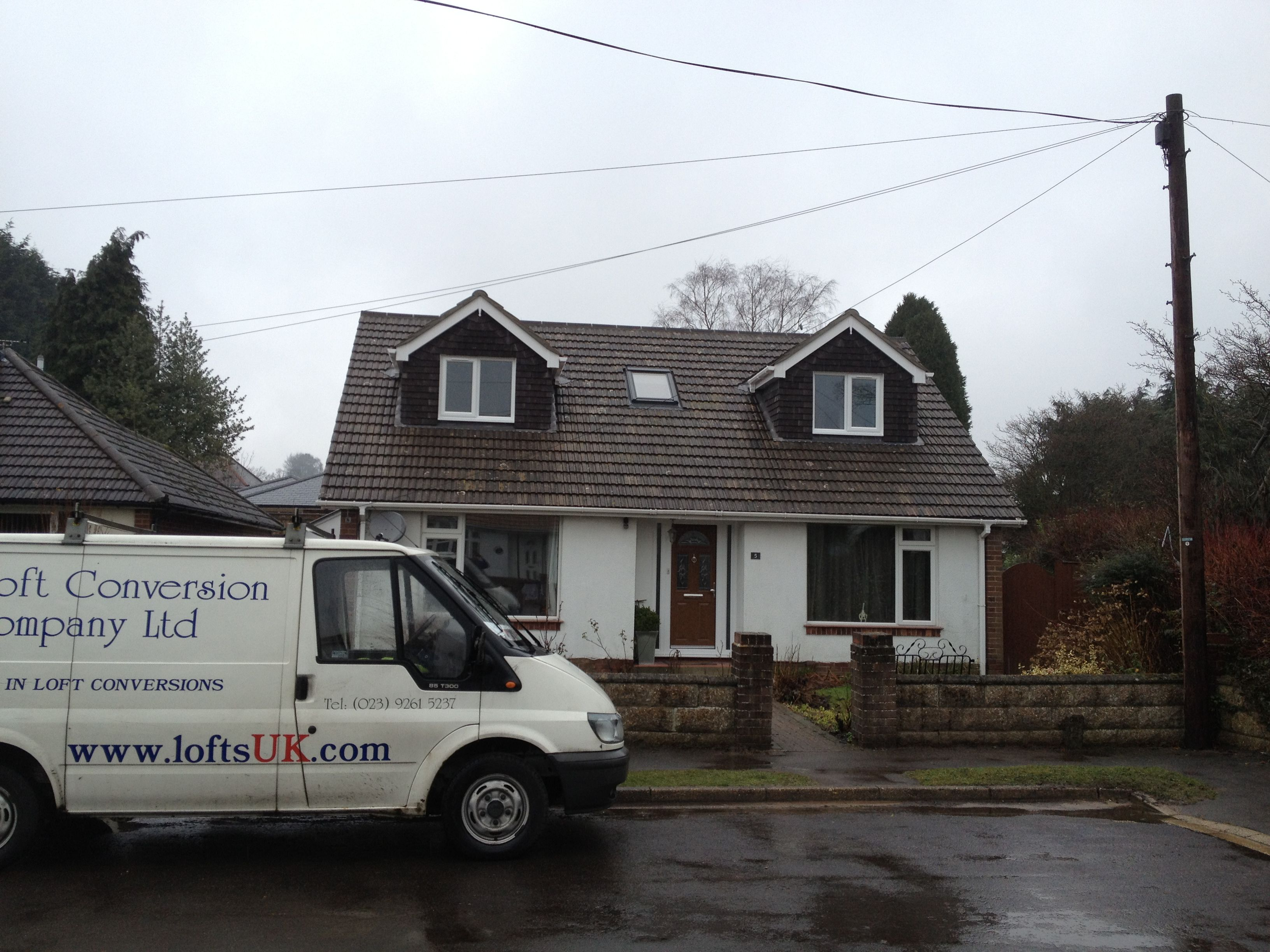 A Loft Conversion To A Bungalow In The Portsmouth Area Dormers Gable With Images Loft Conversion Loft Conversion Design Loft