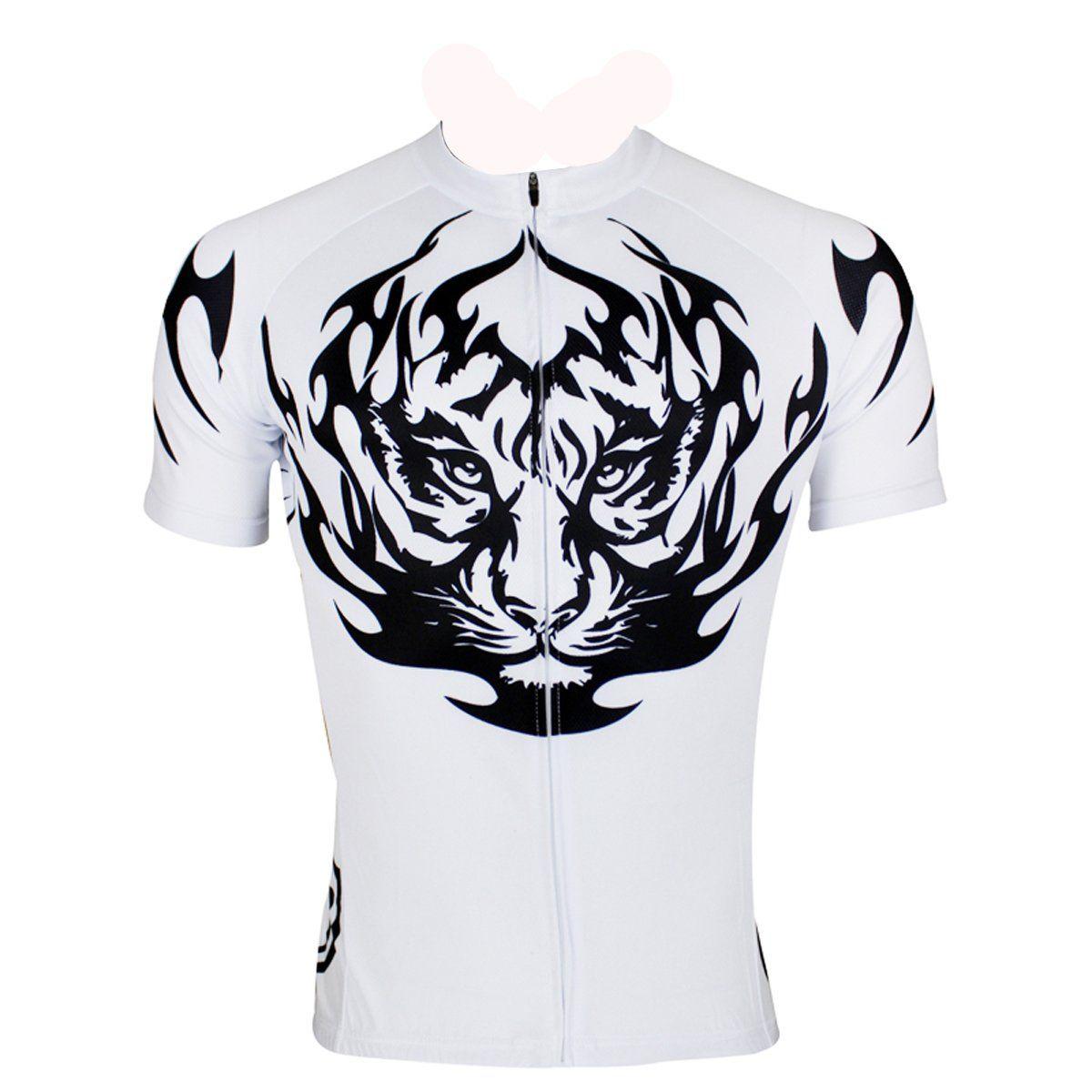 Ilpaladino Tiger White Men s Shirt Cycling Jersey Sportswear Bicycling Pro  Cycle Clothing Racing Apparel Outdoor Sports Leisure Biking T-shirt Summer  NO.117 ... 143e28d9a