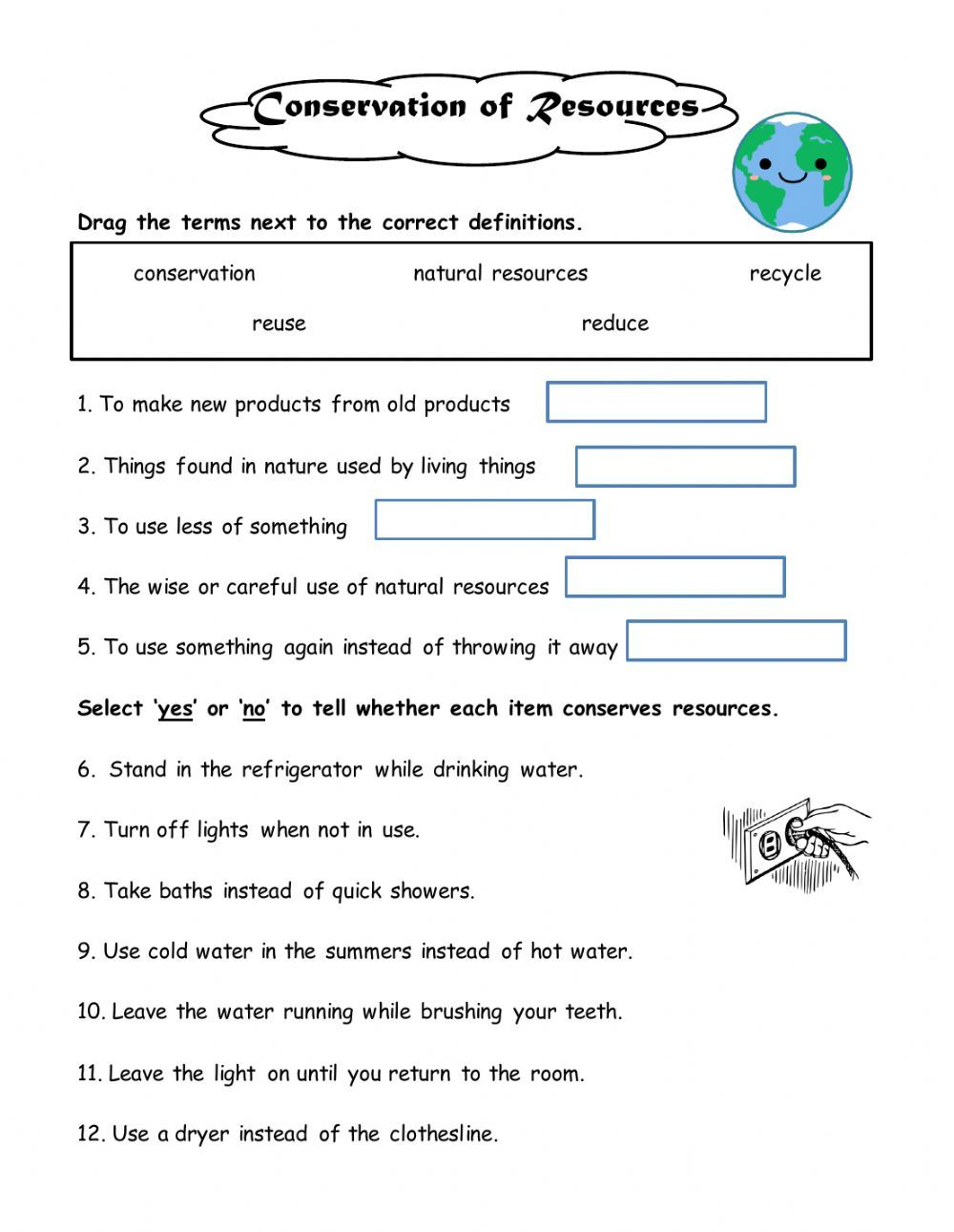 Ways To Conserve Online Worksheet For Grade 4 You Can Do The Exercises Online Or Kindergarten Worksheets Kindergarten Worksheets Printable Worksheets For Kids