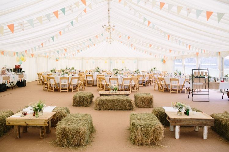 Marquee Buting Hay Bales Quaint Home Made Farm Big Party Wedding http://www.emmacasephotography.com/