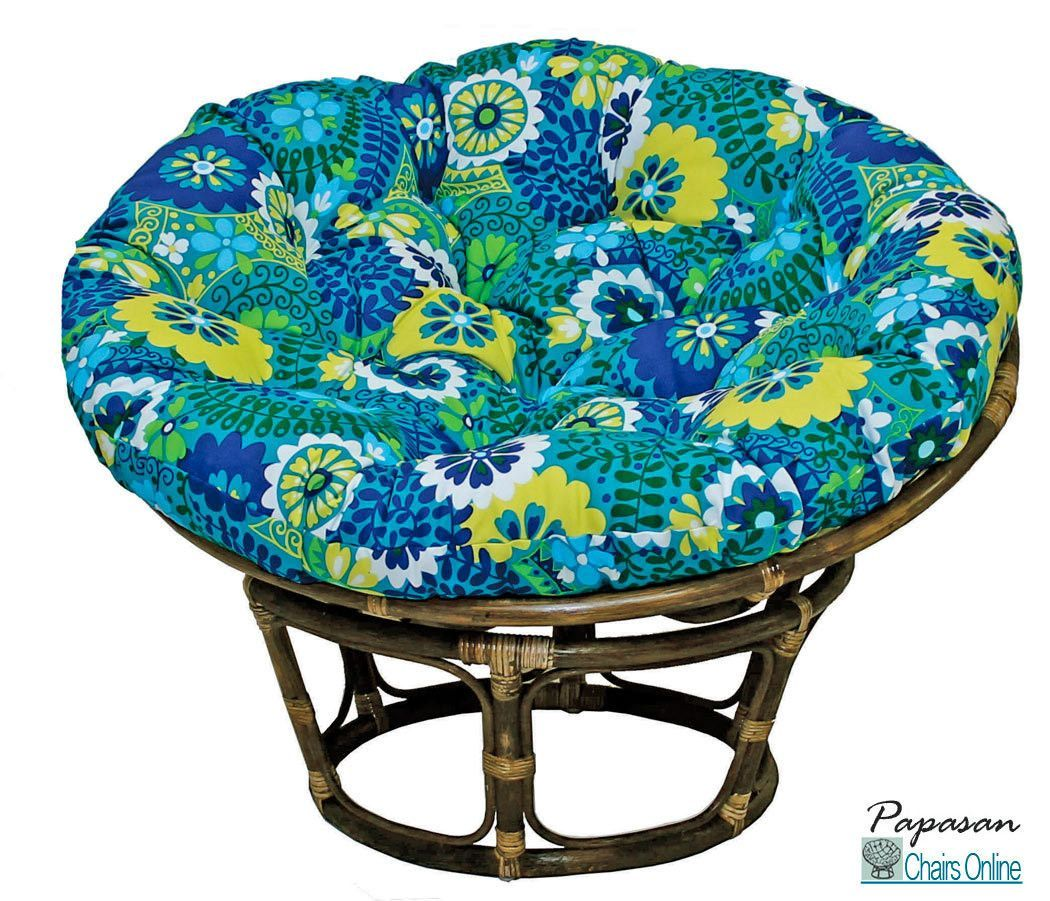 42 Single Papasan Chair With Outdoor Fabric Cushion Mussen