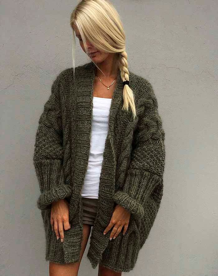 Flagermus cardigan strikkeopskrit #knittedsweaters