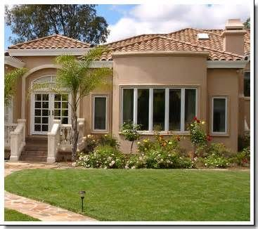 image detail for exterior of a spanish style luxury home with stucco walls a red stucco house colorsstucco - Stucco Exterior Paint Color Schemes