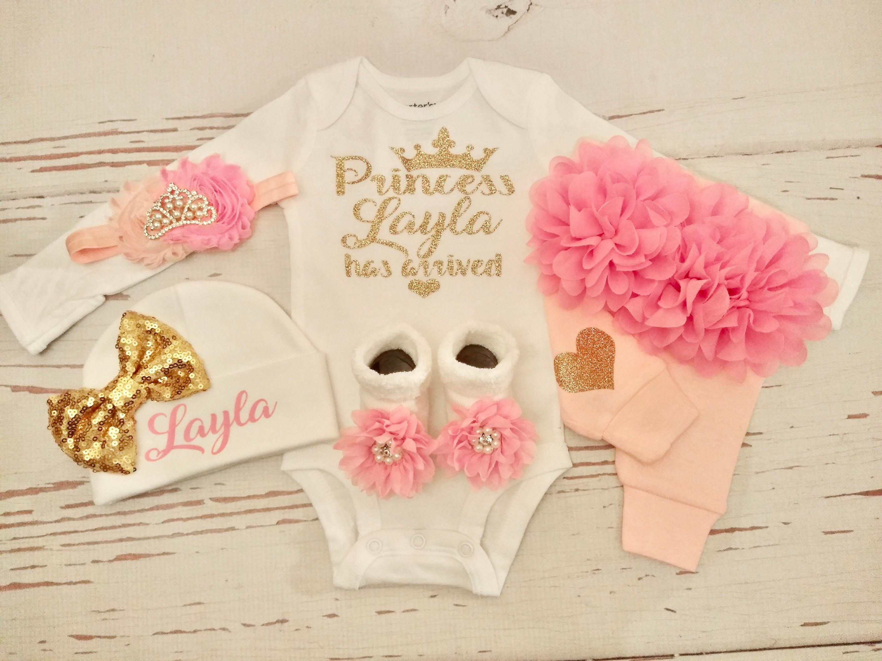 Baby Girl Coming Home Outfit Baby Girl Clothes Personalized  Etsy