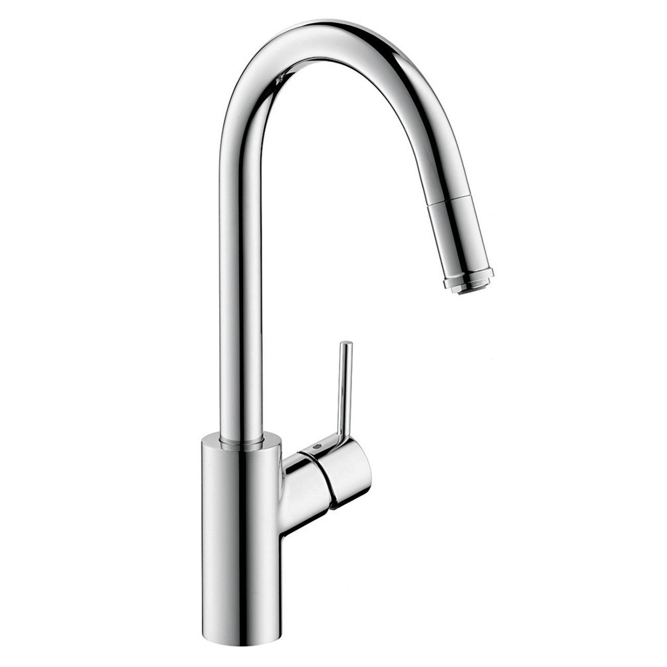 Hansgrohe 14872001 Chrome Talis S Pull-Down Kitchen Faucet with High ...