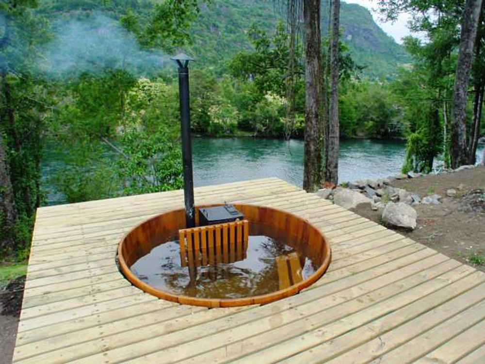hot tube on the woods exteriores pinterest woods. Black Bedroom Furniture Sets. Home Design Ideas