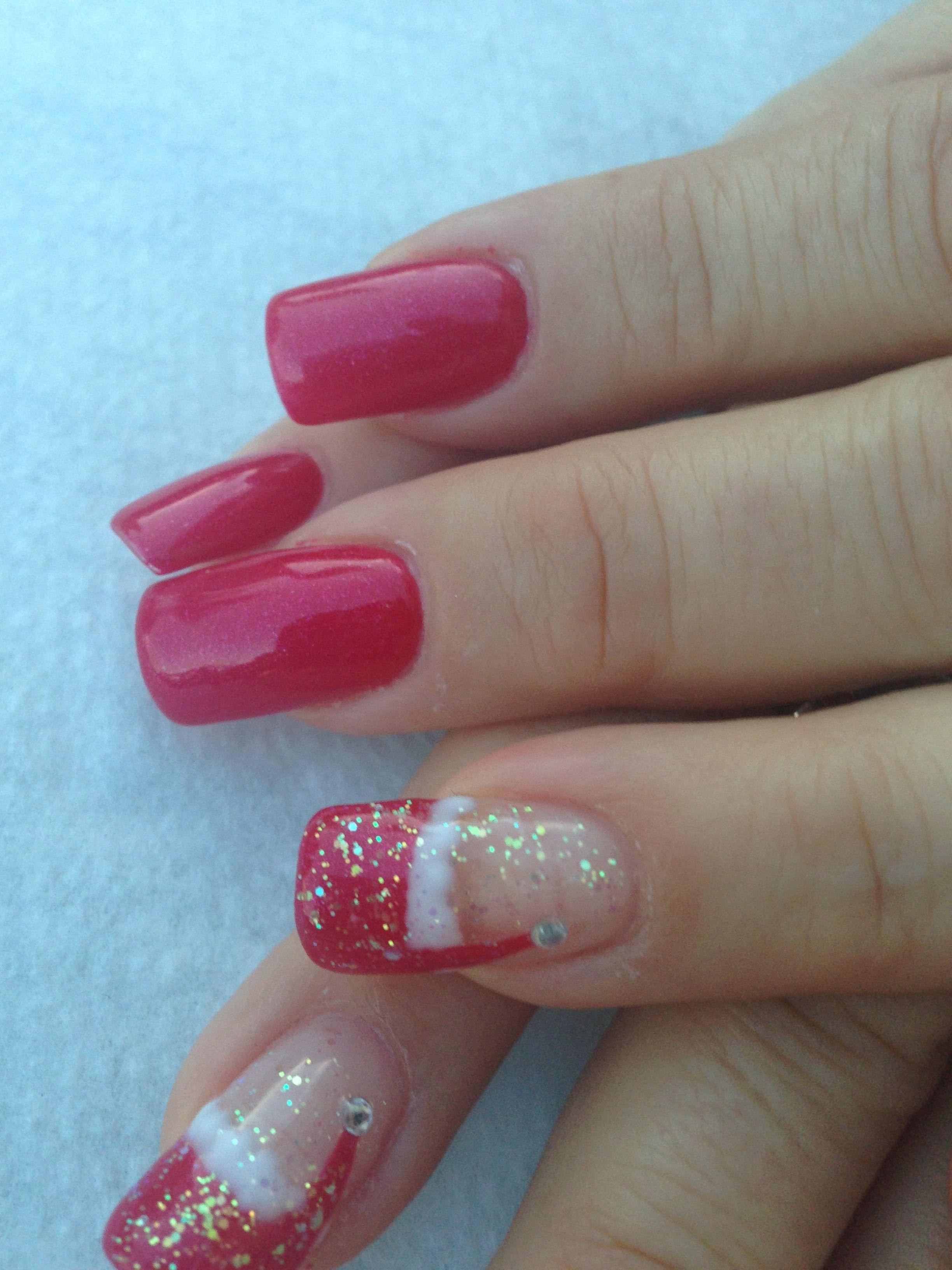 My XMas design by Sky at Venetian Nail Spa  Nails  Pinterest