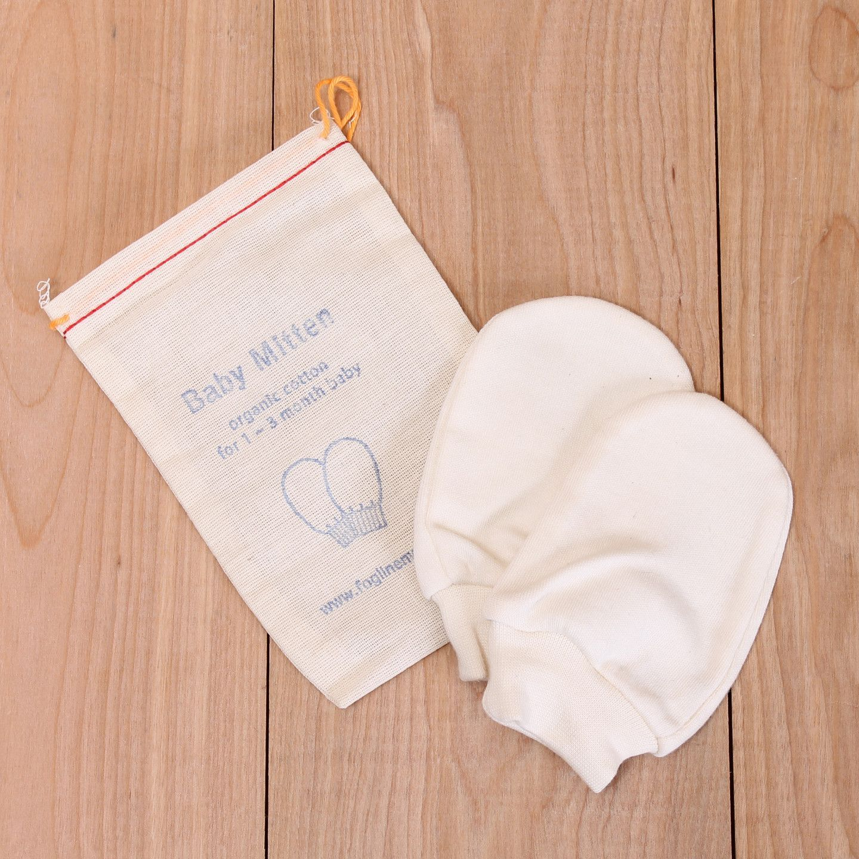 Organic Cotton Baby Mittens