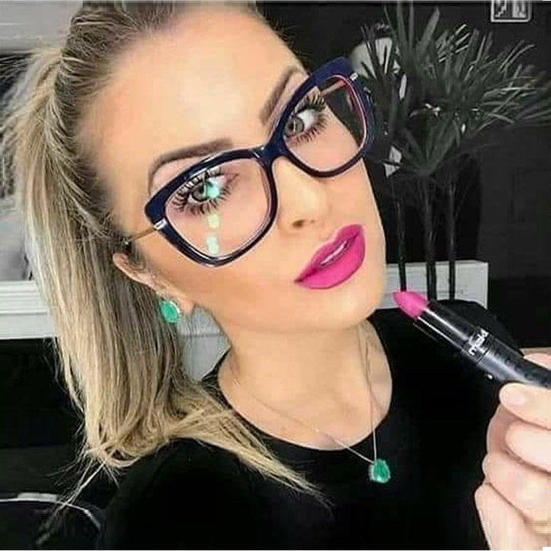 7c57e7a4020 2018 Retro New Women Eyeglasses Frames Classic Brand Designer Luxury ...