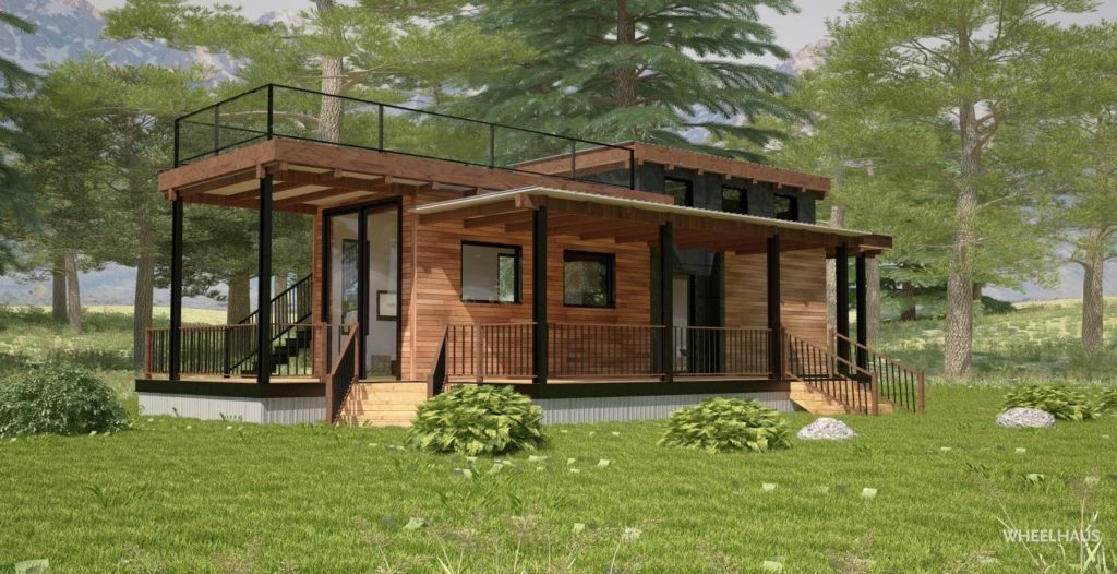 13 Incomparable Green Roofing Design Ideas Flat Roof House Prefab Cabins Flat Roof